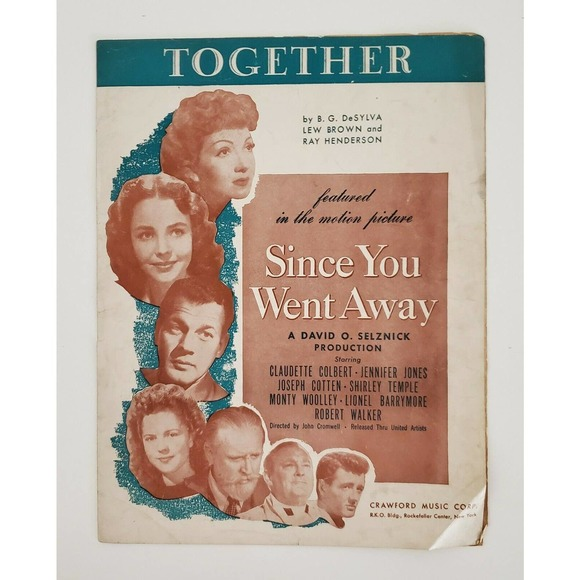 Together Since You Went Away Sheet Music 1940s